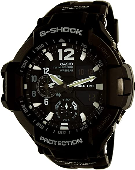 Casio Reloj Analógico para Hombre de Digital con Correa en Resina GA-1100-1AER: Amazon.es: Relojes
