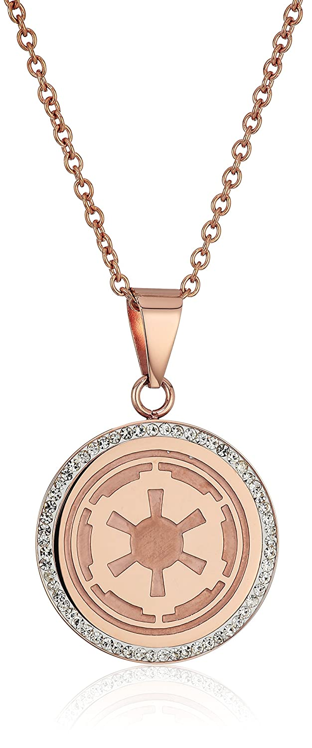 Amazoncom Star Wars Jewelry Imperial Rose GoldPlated with Cubic