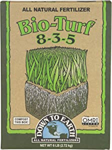 Down To Earth Organic Bio-Turf Fertilizer Mix 8-3-5, 6 lb