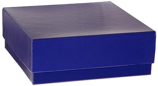 Heathrow Scientific HD2860CB - Caja criogénica (cartón, con tapa, 50 mm de altura, pack de 12 unidades), color azul: Amazon.es: Amazon.es