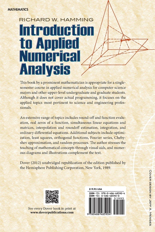 Introduction to Applied Numerical Analysis (Dover Books on Mathematics):  Richard W. Hamming: 9780486485904: Amazon.com: Books