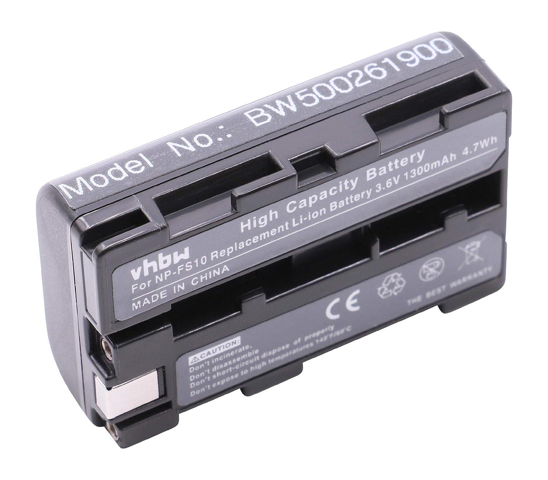 BATERÍ A LI-ION 1100mAh compatible con SONY sustituye NP-F10 / NP-FM10 / NP-FS10 / NP-F11 / NP-FM11 / NP-FS11 / NP-FS20 / NP-FS21 / NP-FS22 / NP-FS30 vhbw VHBW4250318692060