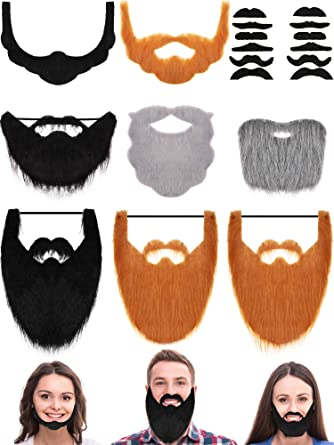 Funny Costume Party Halloween Beard Facial Hair Disguise Mustache Decoration PT