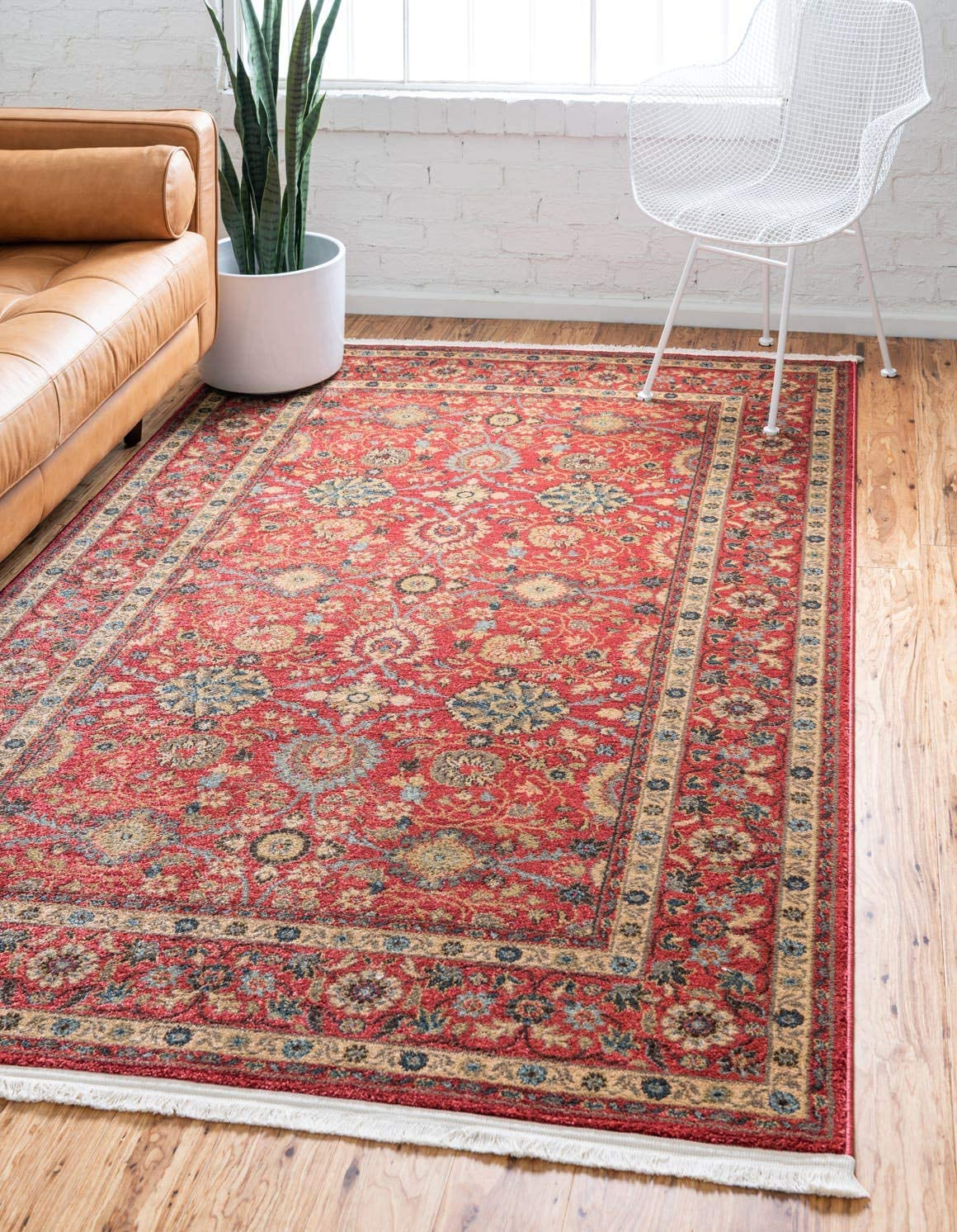 Unique Loom Edinburgh Collection Oriental Traditional French Country Red Area Rug 9 0 x 12 0