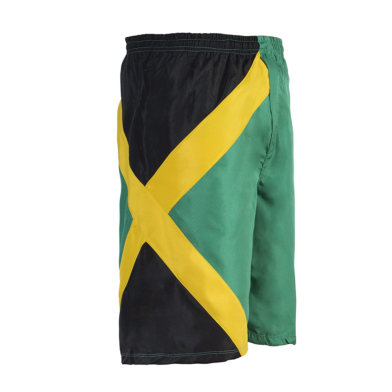 TALLA L. JL Sport Pantalones Crucero Troncos De Nadada Deportes De Jamaica Bermuda Beach Camisetas De Reggae