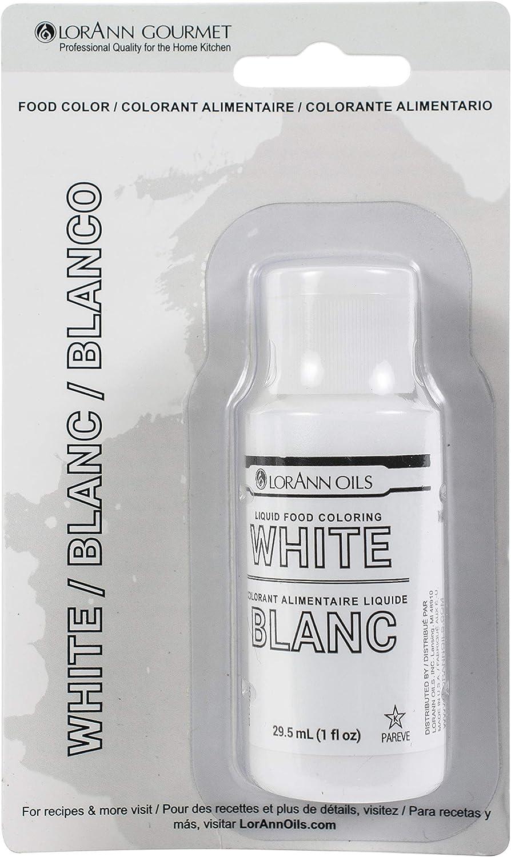 LorAnn Oils Bulk Buy Liquid Food Color 1 Ounce White LFC-1130 (6-Pack)