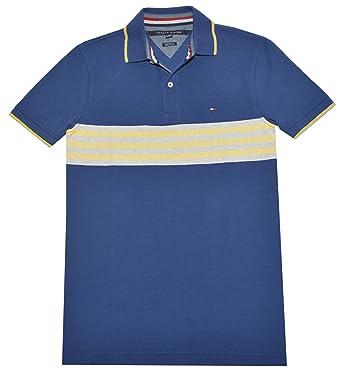 Tommy Hilfiger hombres ajuste personalizado rayas Logo Polo camisa ...