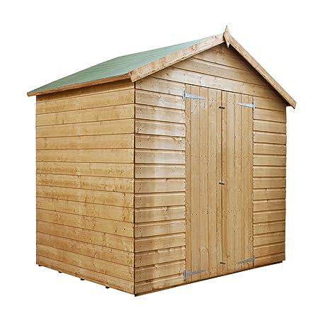 Waltons - Caseta de madera traslapada (1,83 x 1,22 m,