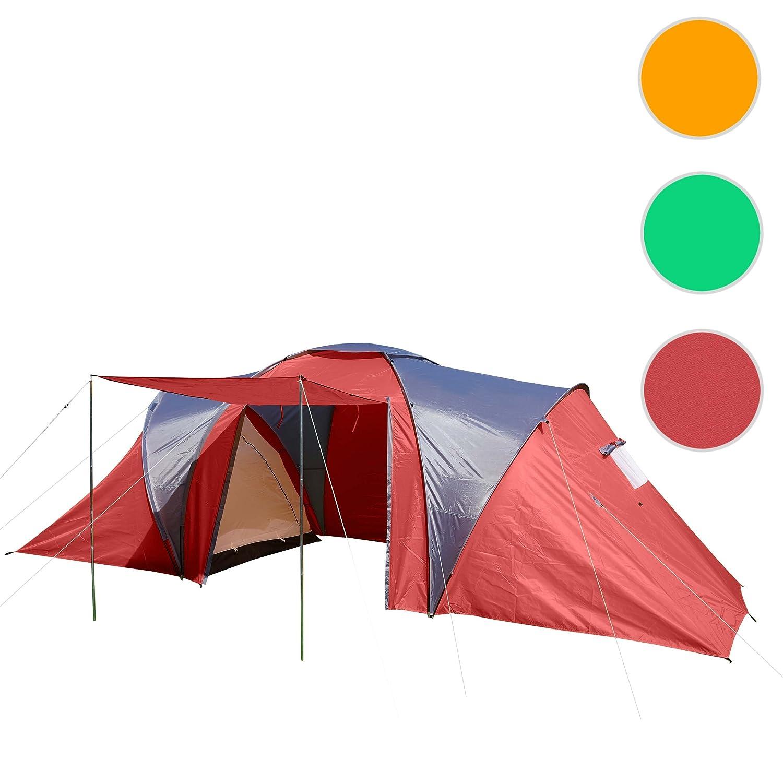 Tenda da campeggio igloo a cupola per 4 persone Loksa 210x450x185cm rosso Mendler