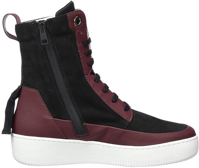 Remonte D0170_Lackleder, Desert Boots Femme - Noir - Noir, 43 EU