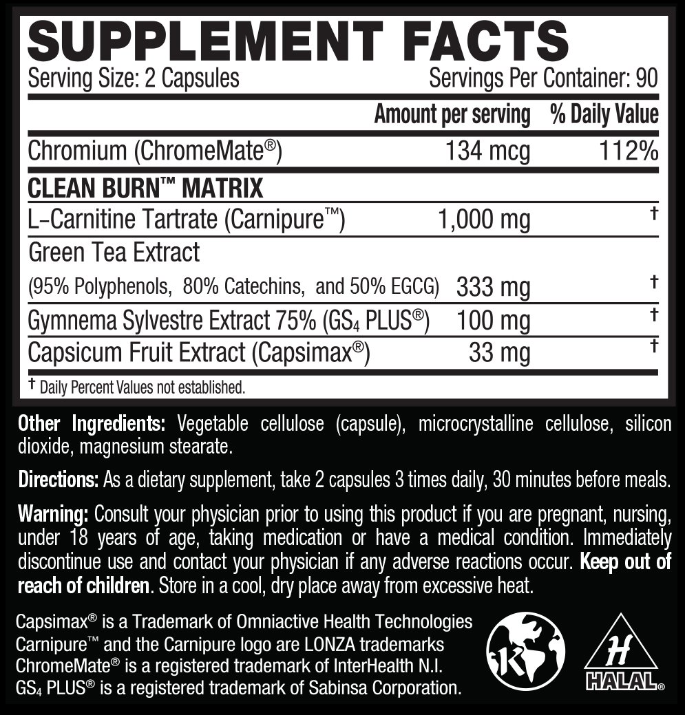 Kaged Muscle, Clean Burn Stimulant-Free Weight Loss Supplement for Men & Women, 180 Veggie Diet Pills by Kaged Muscle (Image #3)