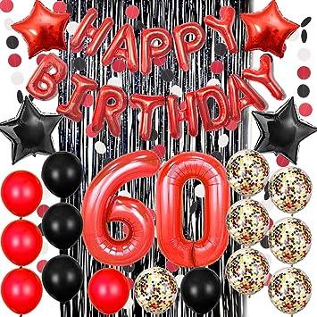Amazon.com: Globos de cumpleaños de Haimimall, color negro y ...