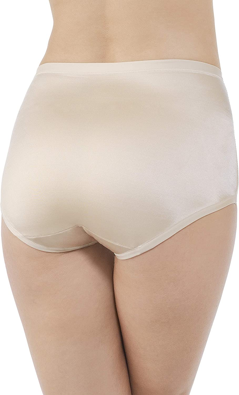 Vanity Fair Body Caress Silky Satin Briefs 13138 Ivory 2 Pairs