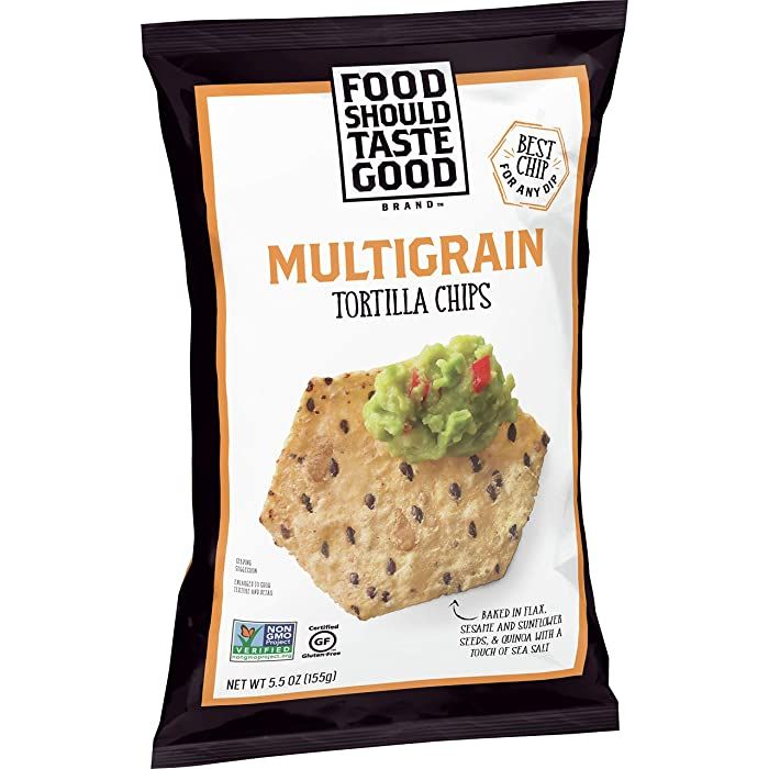 Food Should Taste Good, Multigrain Tortilla Chips, Gluten Free, 5.5 oz (Pack of 12)