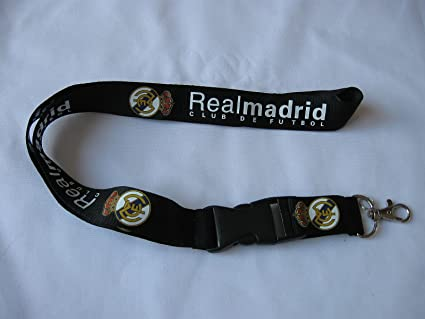 Amazon.com: Real Madrid Lanyard (Black): Sports & Outdoors