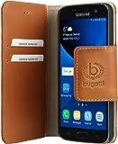 Bugatti 25045 Amsterdam Booklet Schutzhülle für Samsung Galaxy S7 sand