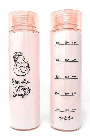 Leboha boca ancha embarazo y lactancia rastreador de la botella de agua, medir su consumo