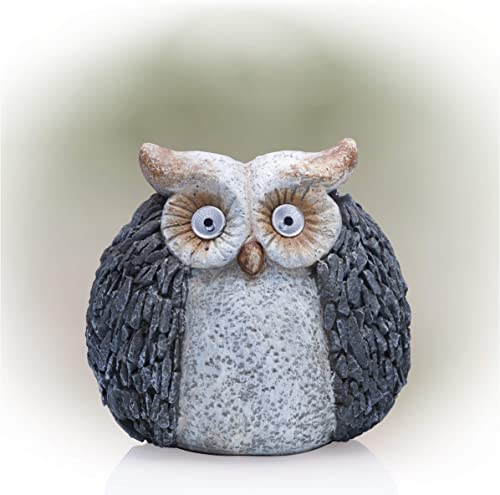 Alpine Corporation QWR514SLR Alpine Solar Powered Owl Statue