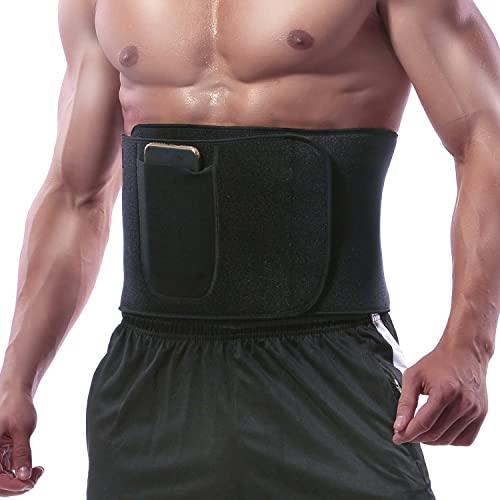 Manladi Waist Trimmer Men Women Abdominal Trainer Neoprene Sweat Belt