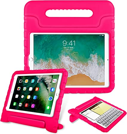Rose iPad 5th /& 6th Generation Shockproof Case Light Weight Kids Case Cover Handle Stand Case for iPad 9.7 Inch 2017//2018 BMOUO Case for New iPad 9.7 Inch 2018//2017 Latest Model