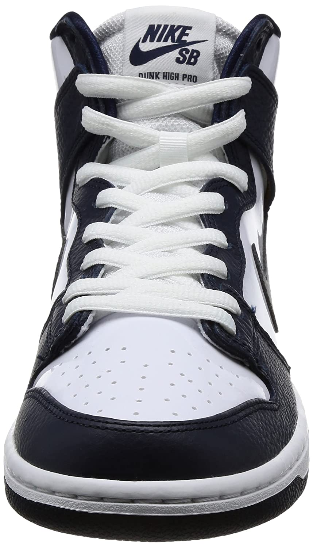 buy popular d177a ea461 Nike 854851-441  Zapatillas de skate SB Zoom Dunk High Pro Obsidian   White para  hombre (14 D (M) US) -