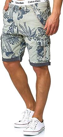 Indicode Caballero Albert Pantalones Cortos Cargo Hawaianos con 6 ...
