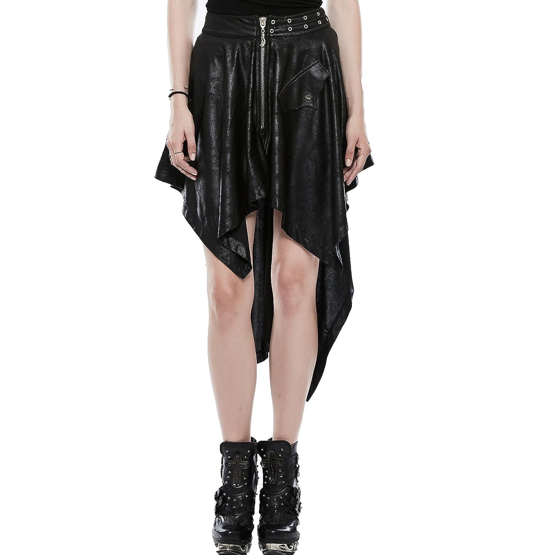 Punk Rave - Falda - para Mujer Negro Negro (X-Small/Small: Amazon ...