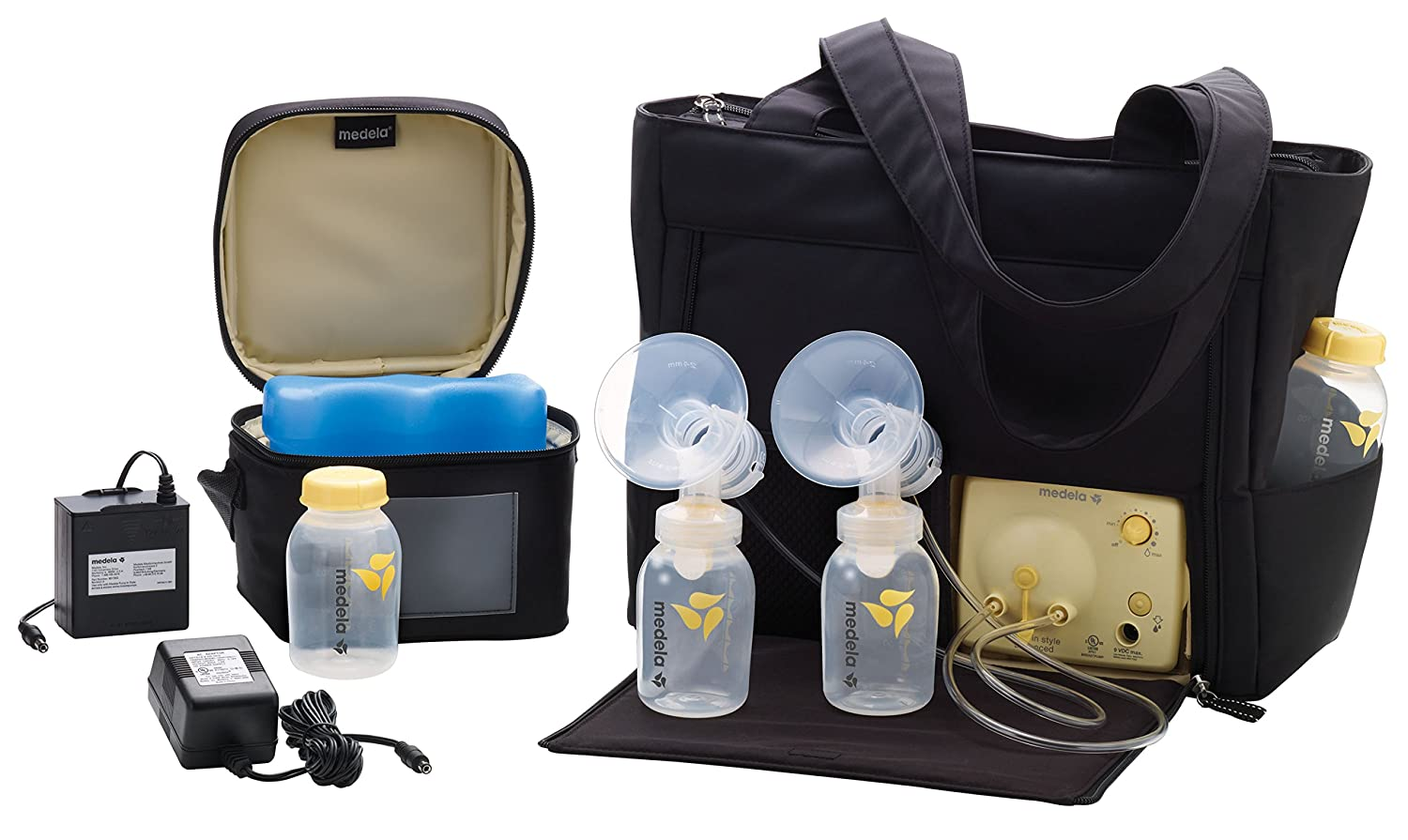 Medela Pump in Style Advanced Double Electric Breast Pump with On the Go Tote, 2-Phase Expression Technology with One-touch Let-down Button, Adjustable Speed and Vacuum 57063