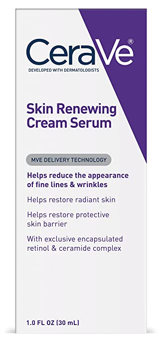 CeraVe Anti Aging Retinol Serum | 1 Ounce | Anti Wrinkle Cream Serum for Smoothing Fine Lines | Fragrance Free best night serum