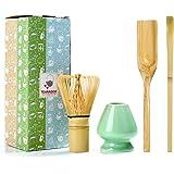 TEANAGOO MA-01 Japanese Matcha Ceremony Accessory, Matcha Whisk (Chasen), Traditional Scoop (Chashaku), Tea Spoon, Whisk…