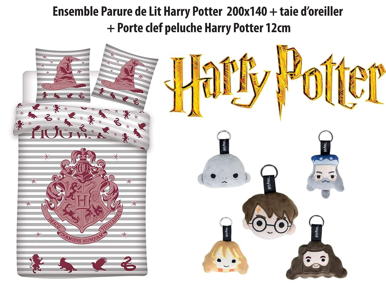 Aymax Harry Potter Kinder Bettbezug-Set Polyester 140x200 63x63 cm