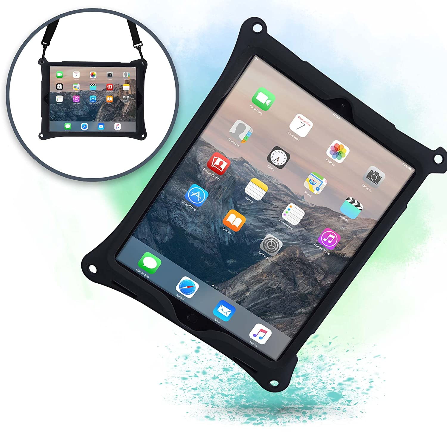 new product f987a f5013 Apple iPad Pro 12.9 case with Stand, Shoulder Strap, Hand Strap | COOPER  BOUNCE STRAP Shock Proof Silicone iPad 12.9 case | Easy to Clean, ...