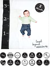 lulujo Baby Baby's First Year Milestone Blanket and Cards Set, Loved Beyond Measure, Loved Beyond Measure, () US