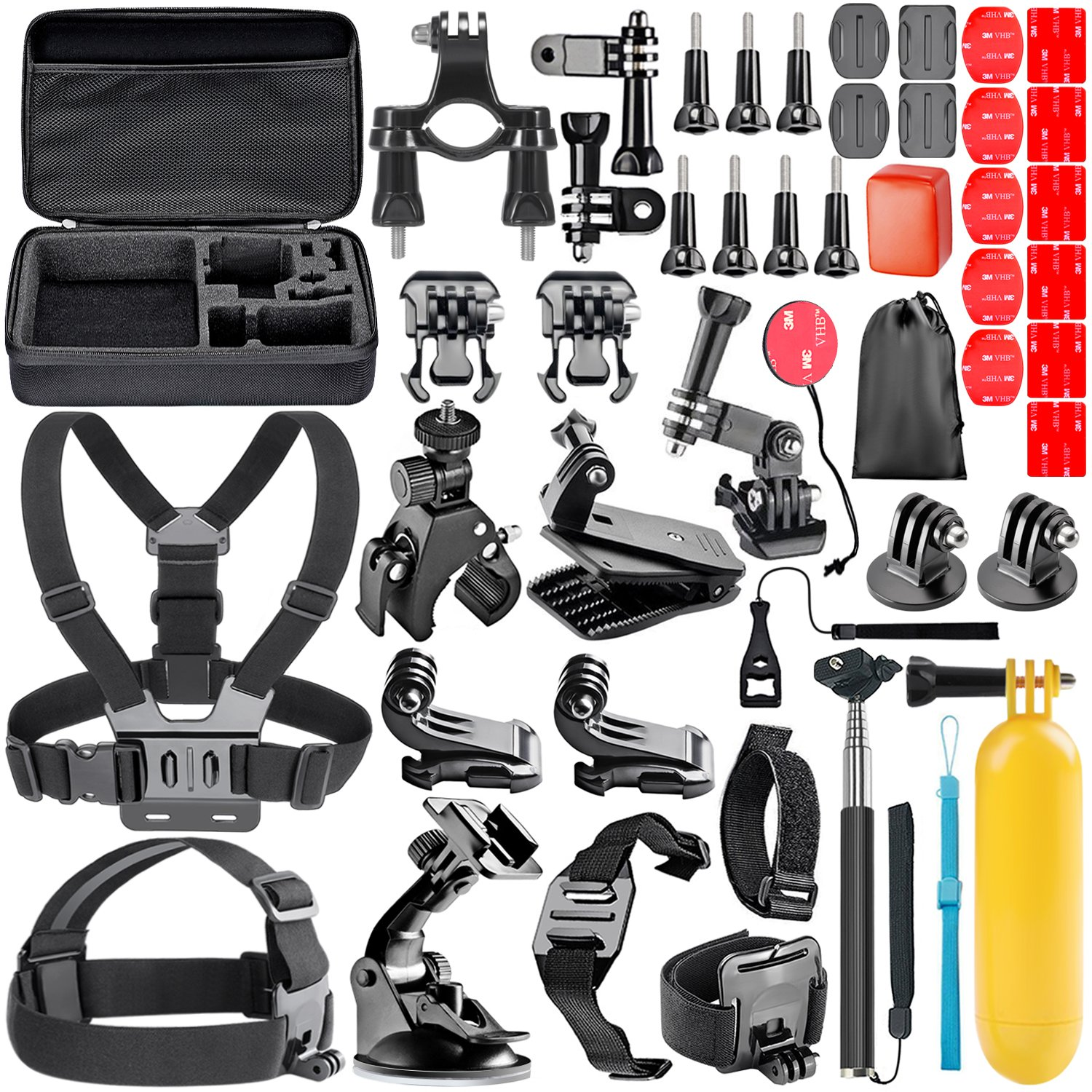 Neewer All In 1 Action Camera Accessory Kit For Gopro Telkomsel 17 Hero Session 5 2 3 4 6 Sj4000 5000 6000 Dbpower Akaso Victsing Apeman Wimius