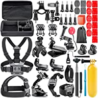 Neewer ALL-In-1 Action Camera Accessory Kit for GoPro Hero Session/5 Hero 1 2 3 3+ 4 5 6 SJ4000 5000 6000 DBPOWER AKASO VicTsing APEMAN WiMiUS Rollei QUMOX Lightdow Campark, Sony Sports DV and More