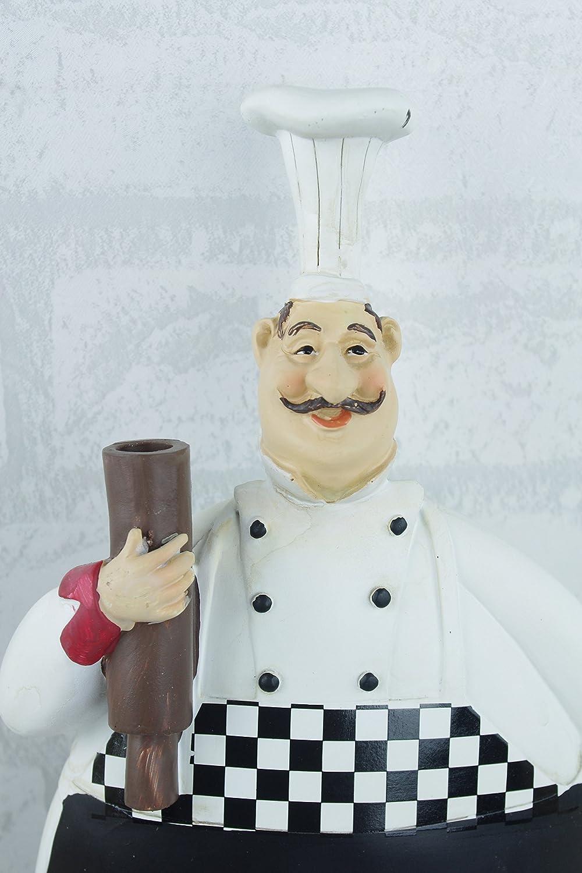Tall Chef Statue Figurine Home Decor Kitchen Ornaments Humour Plaque ...