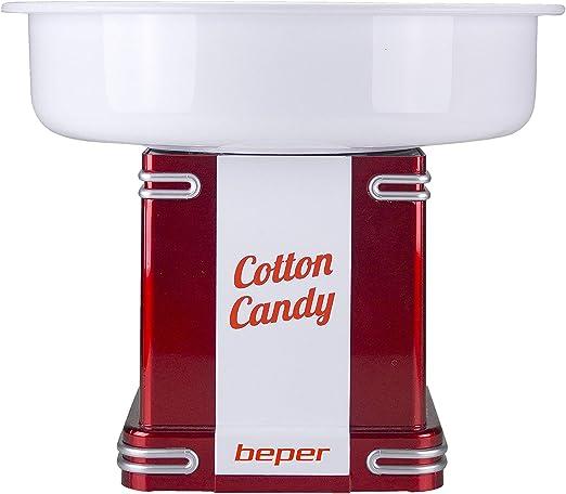 BEPER 90.396Y Máquina para Hacer algodón de azucar 90.396, 500 W, Blanco y Rojo: Amazon.es: Hogar