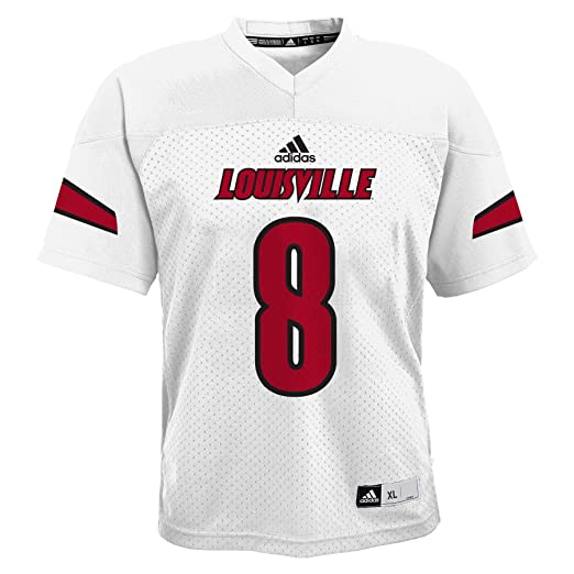 separation shoes 53e50 eb8a6 Amazon.com   Ncaa Youth 8-20 Louisville Cardinals  8 White Chase Jersey,  Xl(18)   Sports   Outdoors