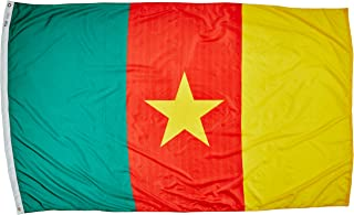 product image for Annin Flagmakers Model 191272 Cameroon Flag Nylon SolarGuard NYL-Glo, 5x8 ft, 100% Made in USA to Official United Nations Design Specifications