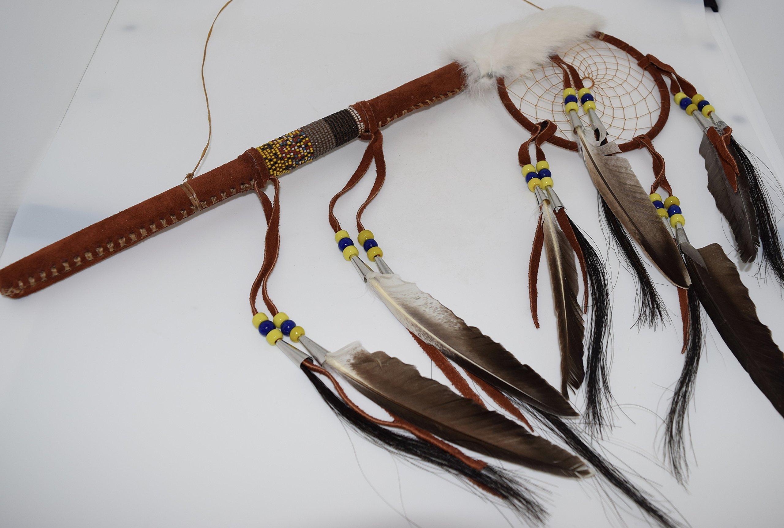 Genuine Handmade Beaded Dreamcatcher Dance Stick Wall Hanging by Kachina Country USA (Image #3)