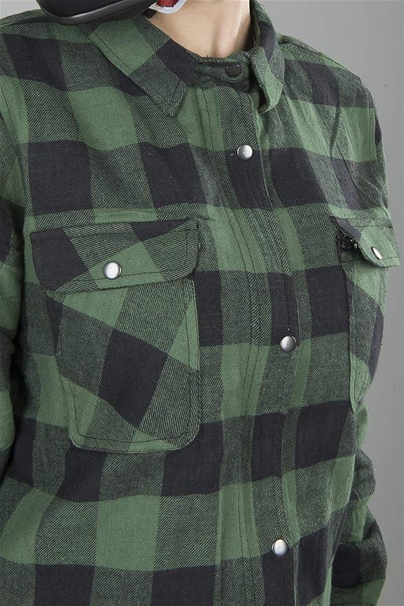 Course franela Camisa Mujer Full Kevlar Negro de verde S: Amazon.es: Coche y moto