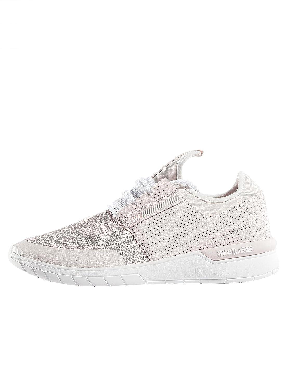 Supra Flow Run Skate Shoe B01M3NY6X5 11 M US|Light Pink - White