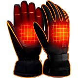 GLOBAL VASION Electric Rechargeable Heated Gloves Touchscreen Gloves for Women and Men