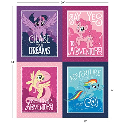 Amazoncom My Little Pony Panel Mlp Character Frames Fabric By The