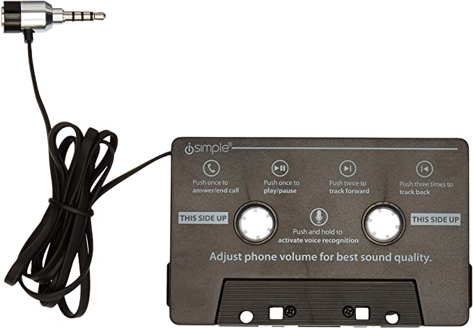 Black Call Cassette Adapter iSimple