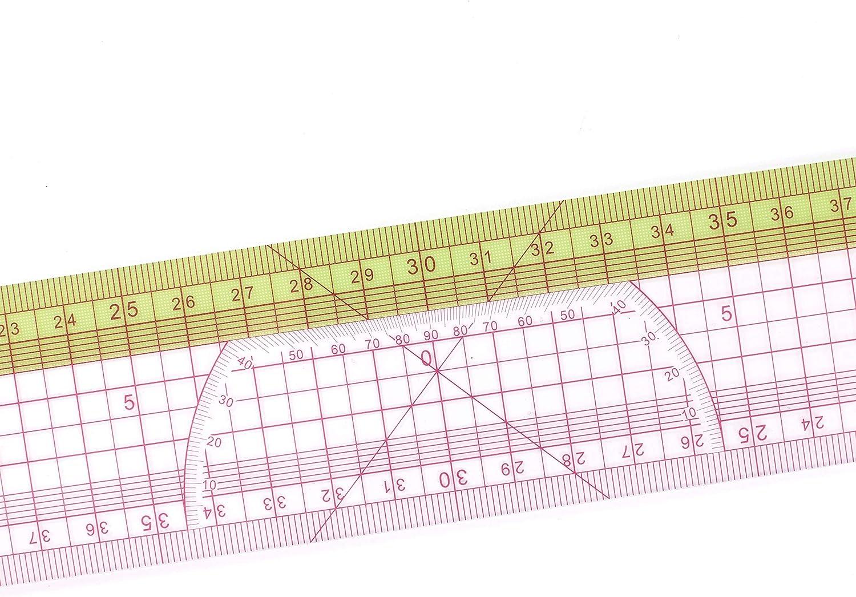 DIHAN #3019 Multifunktions-Lineal f/ür Modedesign-Muster 60 cm Schneider