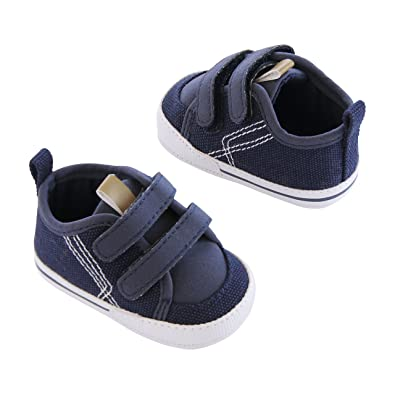 e056ba4d5fe36 Amazon.com | Carter's Baby Boy Soft Sole Sneaker, Blue/White, 9-12 ...