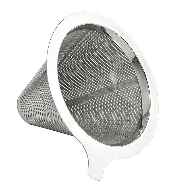 Filtro de café Buonostar de acero inoxidable. Filtros permanentes sin papel como filtro de mano para el café molido. Filtros de café permanentes o ...