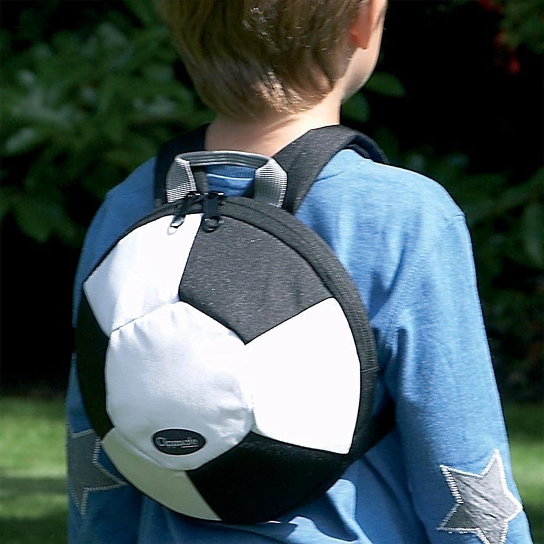 Clippasafe - Mochila de peluche, diseño de pelota de fútbol ...