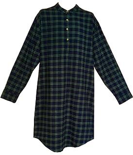 e87a405846 Lee Valley Men s Red Tartan LV27 Flannel Nightshirt at Amazon Men s ...